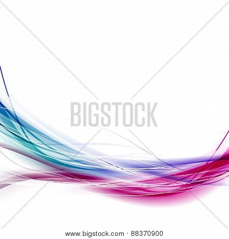Two Colorful Wave Fusion Abstract Background