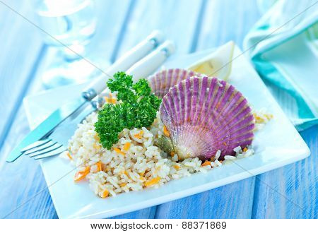 Rice With Scallop