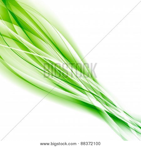 Abstract Speed Green Eco Swoosh Background