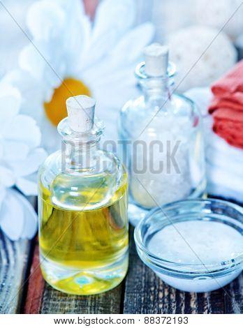 Sea Salt And Oil In Bottles