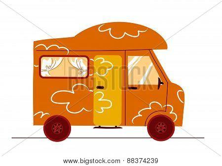 Humorous caravan vector