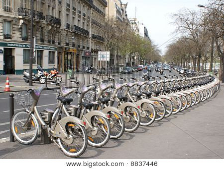 Station Velib', Paris, France