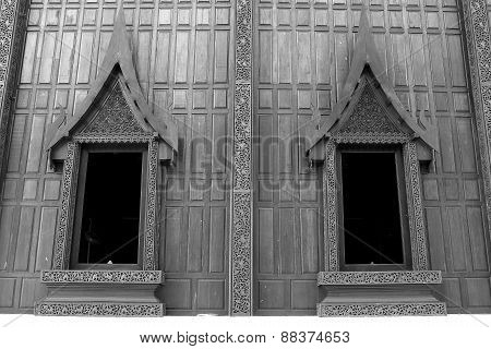 Two windows of thai chapel