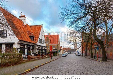 Bruges. Old Street.