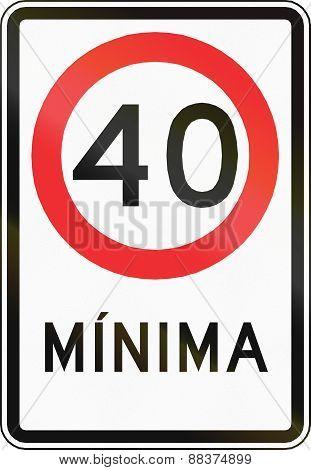 Minimum Speed In Chile