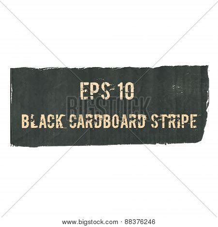 Black Cardboard Torn Stripe