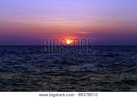 Sea At Sunset