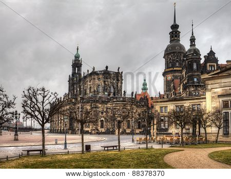 The ancient city of Dresden. Historical and cultural center