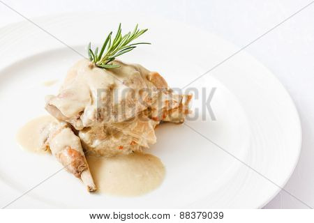 rabbit with barley