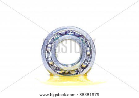 Oil On Metal Ball Bearing