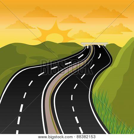 Road design.