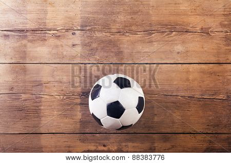 Soccer ball on the floor