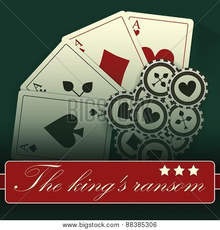 Casino card design-vintage-elegant-poker-casino-vip-ace