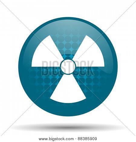 radiation blue glossy web icon