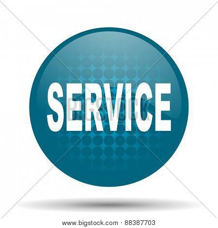 service blue glossy web icon