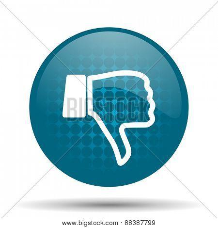 dislike blue glossy web icon