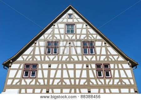Restored half-timbered house