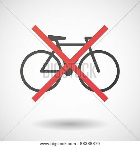 Not Allowed Icon With A Bicycle