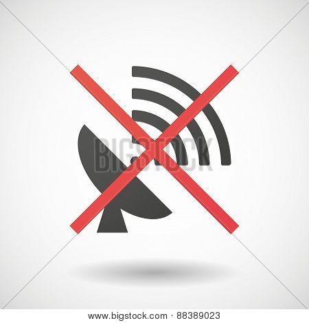 Not Allowed Icon With An Antenna