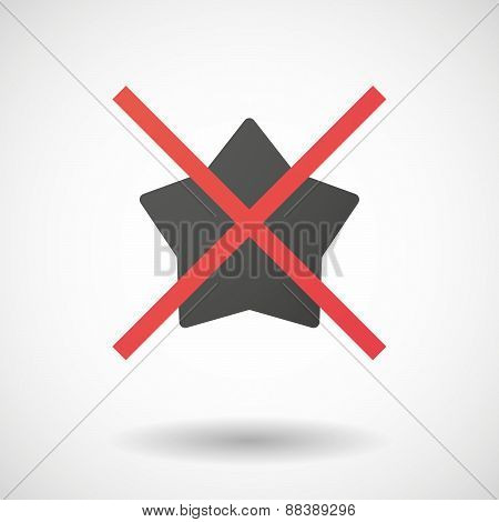 Not Allowed Icon With A Star