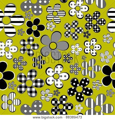 Patterned Flowers Background