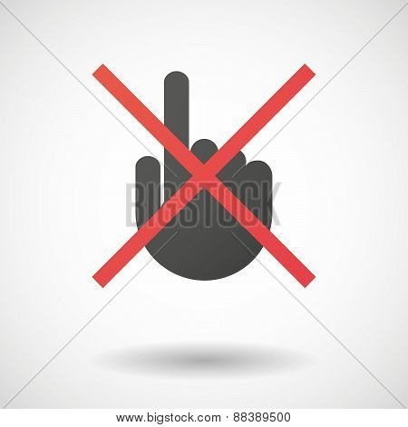 Not Allowed Icon With A Pointing Hand
