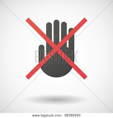 Not Allowed Icon With A Hand