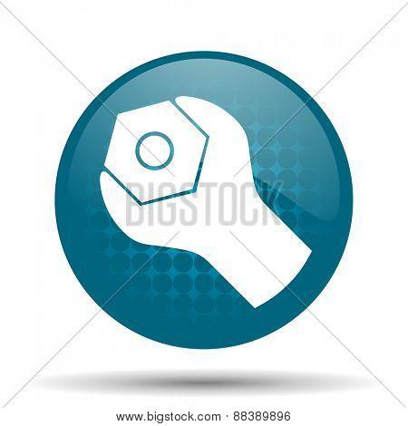 tools blue glossy web icon