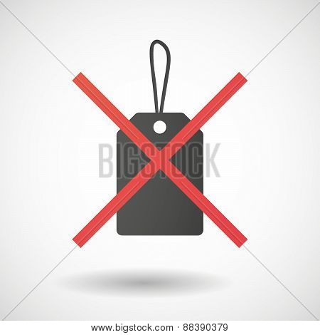 Not Allowed Icon With A Shopping Ribbon