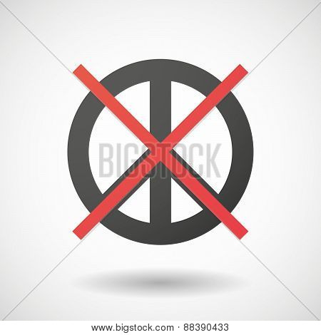 Not Allowed Icon With A Peace Sign