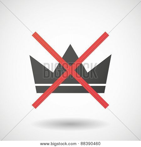 Not Allowed Icon With A Crown