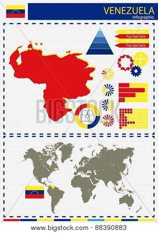 Vector Venezuela Illustration Country Nation National Culture Concept