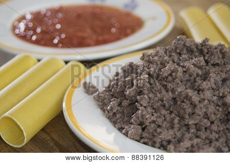 Cannelloni Of Minced Meat
