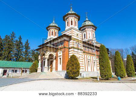 The church at Sinaia Monastery, Romania