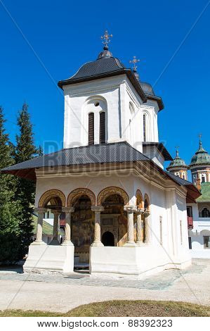 The old church at Sinaia Monastery, Romania