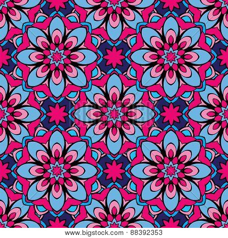 Ssquared Background - Ornamental Seamless Pattern. Design For Bandanna, Carpet, Shawl, Pillow Or Cus