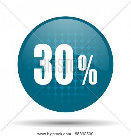 30 percent blue glossy web icon