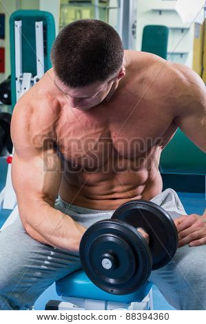 Strength training with dumbbells