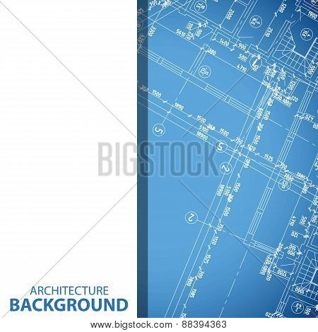 New blueprint building plan background