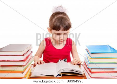 Little Girl With A Books