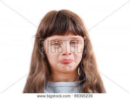Little Girl Make A Faces