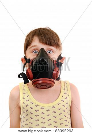 Little Girl In The Gas Mask