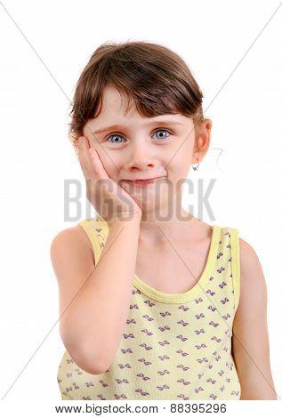 Little Girl Feel Toothache