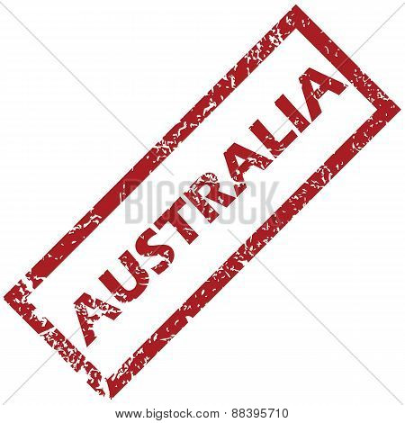 New Australia rubber stamp