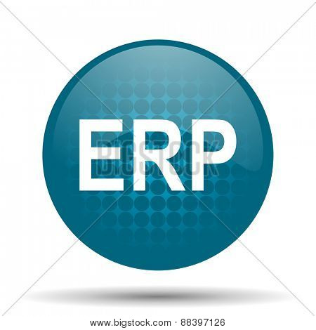 erp blue glossy web icon