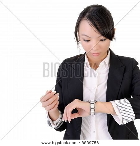 Business Woman Check Time