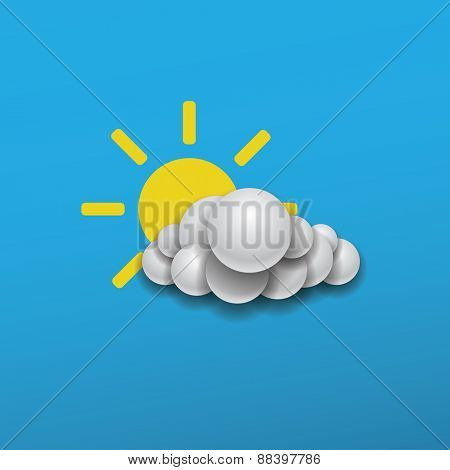 Abstract Weather Icon Design - Sun with Cloud