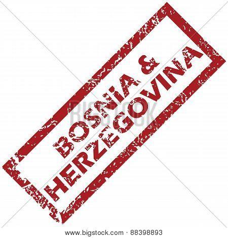 New Bosnia and Herzegovina rubber stamp