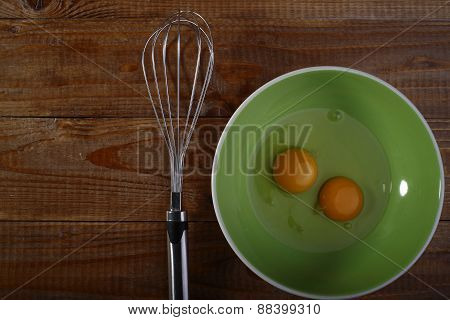 Eggs On Plate And Beater