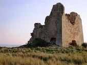 foto of saracen  - apulia coastline with anti saracen incursion watchtower defense - JPG